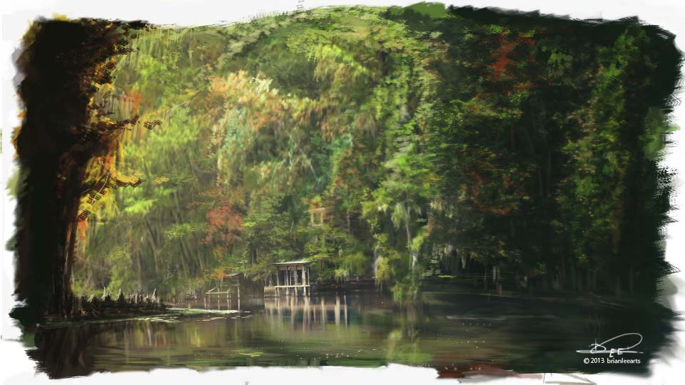 Color Study 36: Autumn Bayou